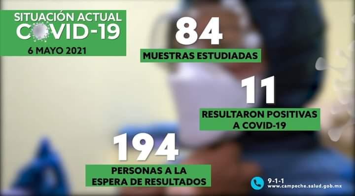 ONCE CONTAGIOS Y DOS DECESOS POR EL COVID-19 REPORTA SALUD